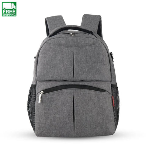 Bag Large Capacity Baby Organizer Waterproof Nappy Changing Gray Outdoor Diaper Bag
