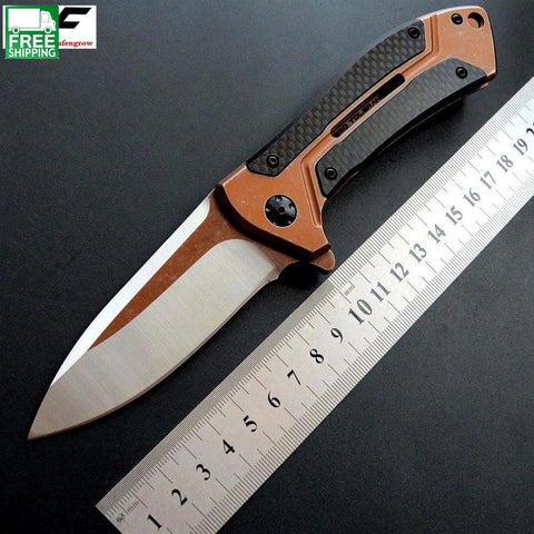 Ball Bearing Folding Knife D2 Blade Steel+Carbon Fiber Handle Knives