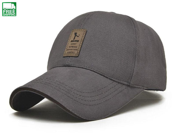 Baseball Cap Mens Adjustable Casual Leisure Hats Solid Color Dark Gray / Hiking Camping Hat