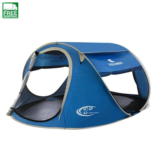 Beach Tent Pop Up Open Large Automatic Instant Setup Easy Royal Blue Camping Tent