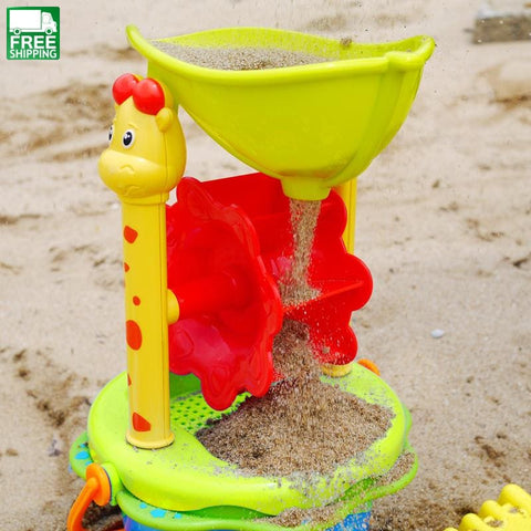 Beach Toys High Quality Bucket Rakes Sand Wheel Watering Outdoor