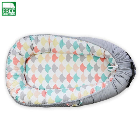 Bed Newborn Travel Foldable Bumper Baby Bionic Bedding Set Washable 1 Cute Baby Sleeping Bag