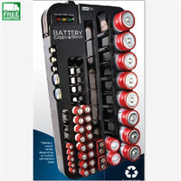 Black Battery Storage Organizer Rack 72 Batteries Tester Case Multi Tools Outdoor Camping