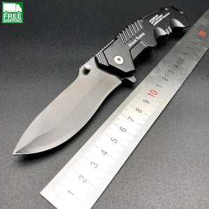 Black Blade Cs Cold Steel Pocket Knife Tactical Survival Camping Knives