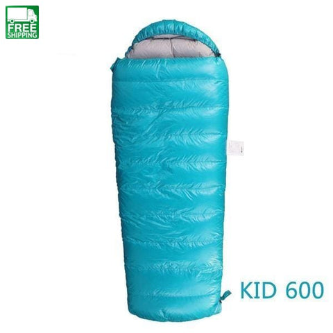 Camping Nylon Urltra-Light Keep Warm Goose Down Children Spring Blue Kid 400 Camping Sleep Mats