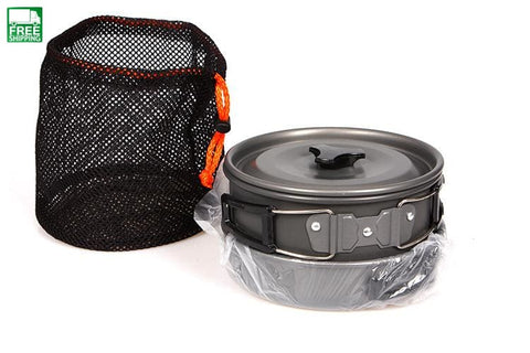 Camping Pot Pan Kettle Set Aluminum Alloy Outdoor Tableware Cookware Camp Kitchen