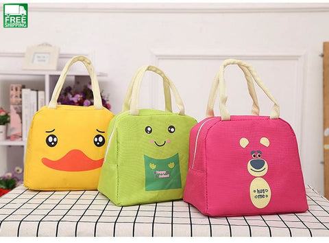 Cartoon Animal Lunch Bag Portable Insulated Cooler Bags Thermal Food Picnic Picnic