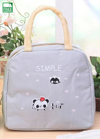 Cartoon Animals Lunch Bags Women Portable Insulated Thermo Cooler Picnic