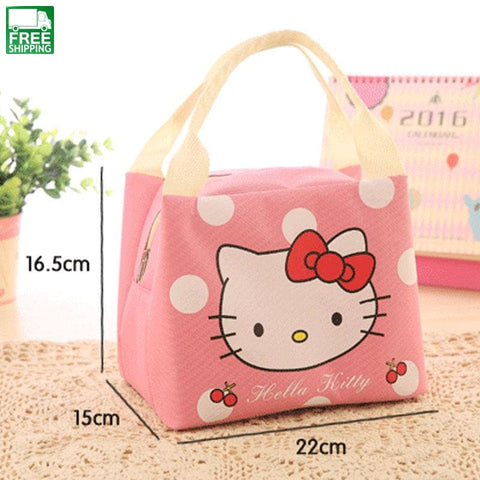 Cartoon Insulated Lunch Bag Cute Totoro Hello Kitty Thicken Cold Picnic Bags