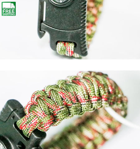 Climbing Emergency Outdoor Paracord Umbrella Rope Compass Safety & Survival