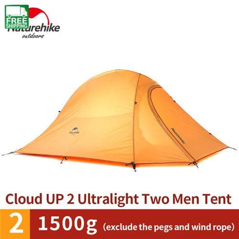 Cloudup Series Ultralight Hiking Tent 20D Fabric For 2 Person With Mat Camping Tent