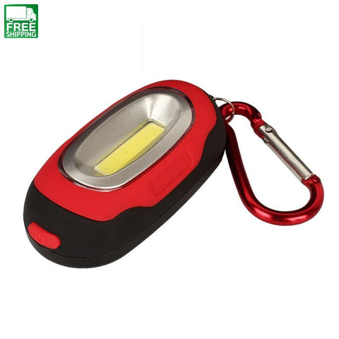 Cob Led Flashlight Light 3-Mode Mini Camping Lamp Key Chain Ring Keychain Lights & Lanterns