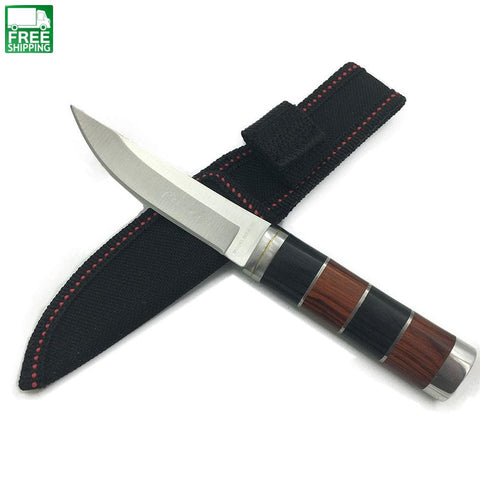 Colour Wood Steel Handle Knife Survival Hunting Knives Knives