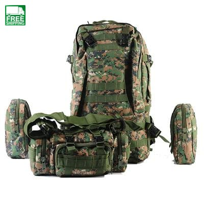Combined Bags 60 Liters Large Capacity Multifunction Travel Bag Camping Backpacks