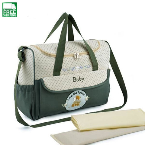 Diaper Bag Mummy Baby Multifunctional Changing Shoulder Army Green Outdoor Diaper Bag