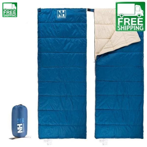 Envelope Cotton Sleeping Bag Camping Blue Bags & Camp Bedding