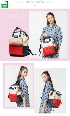 Famous Brand Teenager Canvas Backpacks For Girl Backpack Travel Bag Women Camping Backpacks