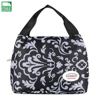 Fashion Insulated Canvas Lunch Bag Thermal Food Picnic Lunch Macloon White L Picnic Bags
