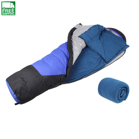Fleece Sleeping Bag Camping Hiking Ultra-Light Bags & Camp Bedding