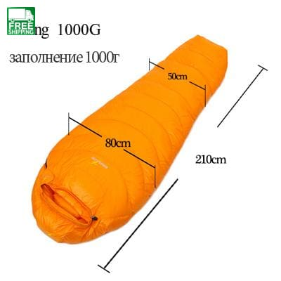 Goose Down Sleeping Bag Mummy Ultralight Hike Winter Sleeping Bags & Camp Bedding