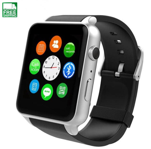 Gsm Sim Card Bluetooth Sports Smart Watch With Camera Heart Rate Monitor Silver Watches