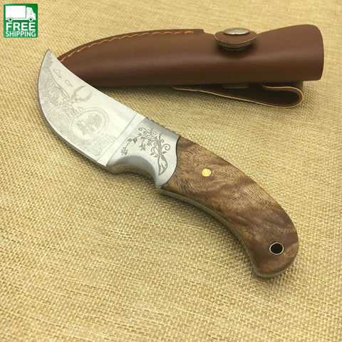Hunting Knifes Wood Handle Camping Survival Fixed Knife Knives
