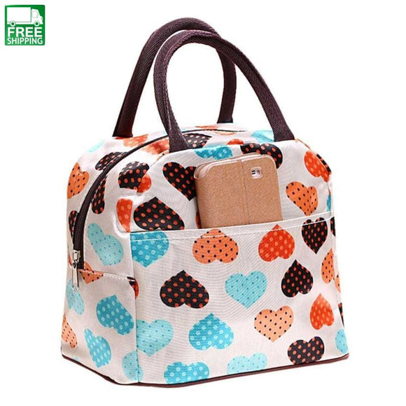 Insulated Picnic Lunch Bag Tote Zipper Organizer Lunchbox 6M Picnic Bags