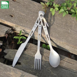 Keith Titanium Tableware Sets Knife Fork Spoon Camp Kitchen