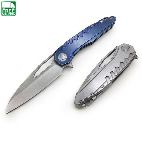 Knife D2 Blade Camping Combat Hunting Survival Pocket Apocalyptic Knives