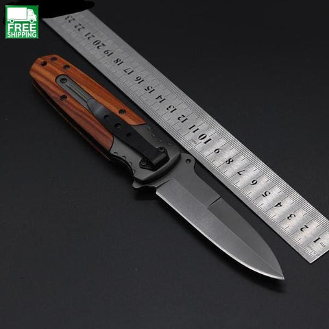 Knife Essential Equipment Wild Rescue Wood Aluminium Handle Knives