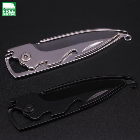 Knife Opener Keychain Motion Outdoor Self-Defense Tool Fruit Knives