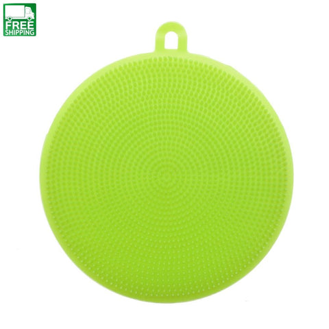 Magic Cleaning Brushes Silicone Dish Scouring Pad Pot Pan Easy To Clean Wash Camp Kitchen