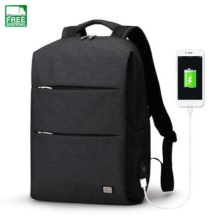 Men Backpack For 15.6 Inches Laptop Large Capacity Stundet Black Usb / China 15Inches Camping
