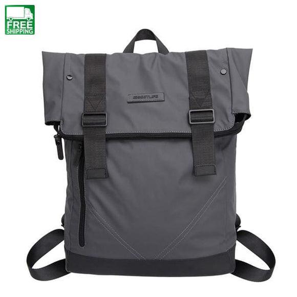 Men Casual Backpacks Pu Leather Flip Mochila Escolar Fashion Male Urban China / 15 Inches & Bags
