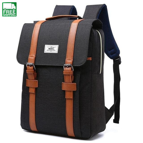 Men Women Canvas Backpacks School Bags For Teenagers Large Capacity Laptop Camping Backpacks