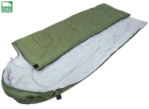 Military Envelope Adult Sleeping Bag 3 Season Outdoor Camping Hiking Bags & Camp Bedding