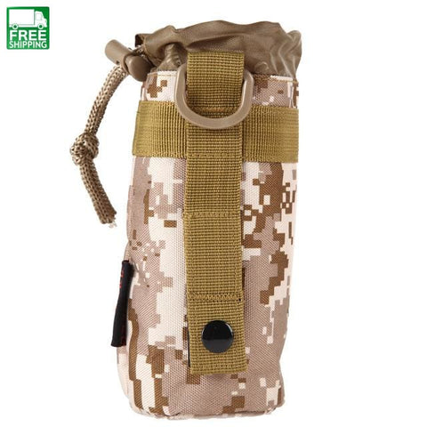 Military Molle Water Bottle Bag Holder Kettle Pouch Multifunctional Hydration Backpack