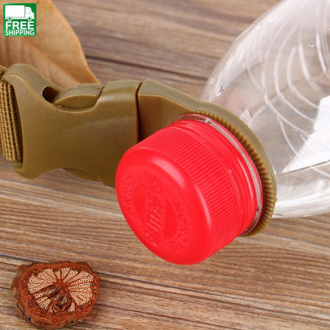 Military Nylon Webbing Buckle Hook Water Bottle Holder Clip Edc Climb Carabiner Safety & Survival