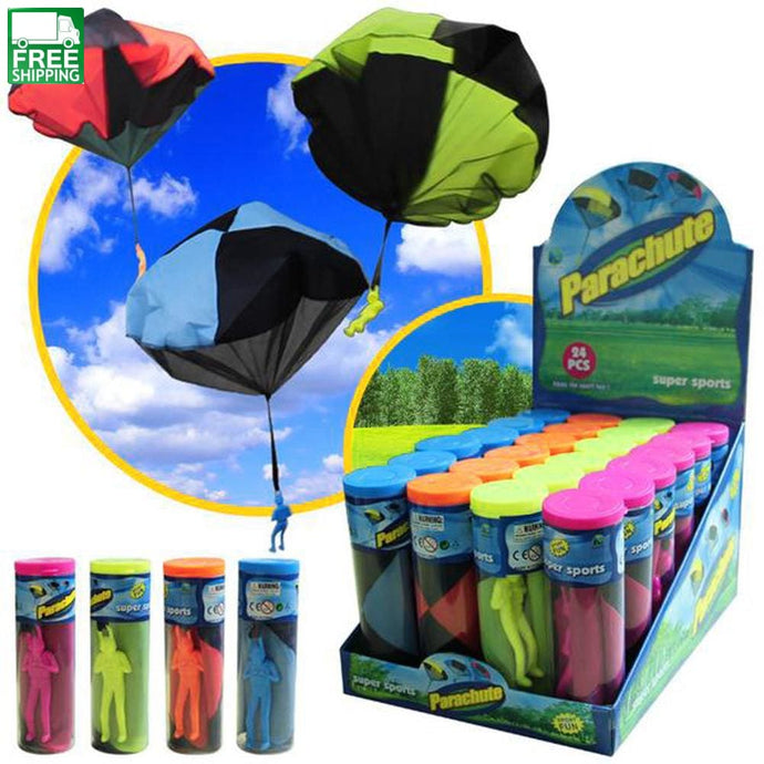 Mini Hand Throwing Parachute Outdoor Sports Fly Toy Educational Kids Toys