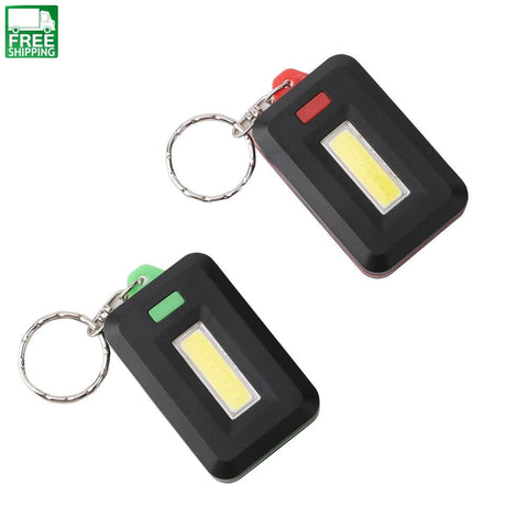 Mini Led Flashlight Keychain Keyring Light Torch Key Chain Outdoor Camping