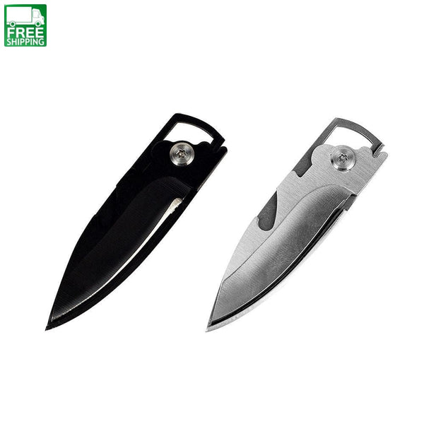 Mini Multifunction Key Fruit Knife Bottle Opener Folding Blade Pocket Knives