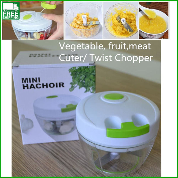 Multifunctional Vegetable Cutter Fruit Meat Twist Chopper Manual Control Camp Kitchen