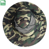Outdoor Camouflage Mesh Sunshade Fishing Bucket Hat Comfortable Hiking Camping