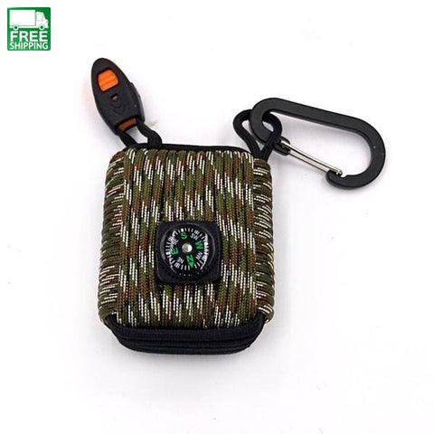 Paracord Survival Kit Grenade Emergency With Carabiner Safety &
