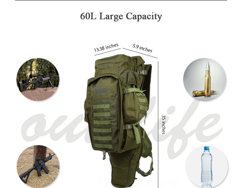 Strong And Durable 60L Outdoor Military Backpack