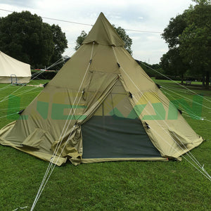 Arrival Custom Norway Lavvo Teepee Tent 100% Ripstop Fabric for 8-10 persons