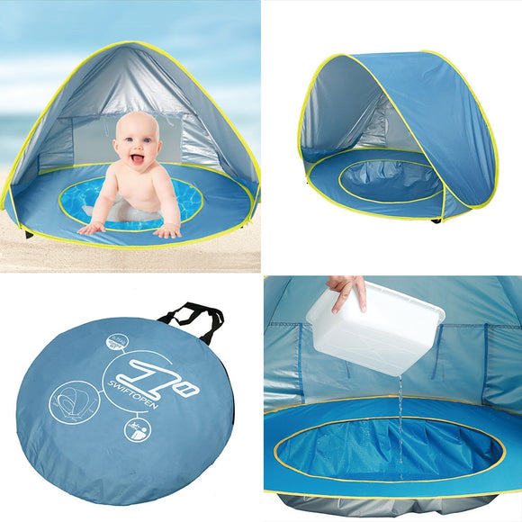 Baby Beach Tent Outdoor Beach Pool Playing House Uv-protecting Sunshelter