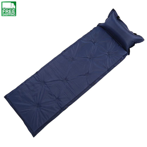 Self Inflating Portable Camping Mat Blue Sleep Mats