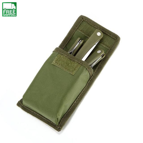 Set Army Green Stainless 3 In 1 Camping Picnic Travel Outdoor Camping