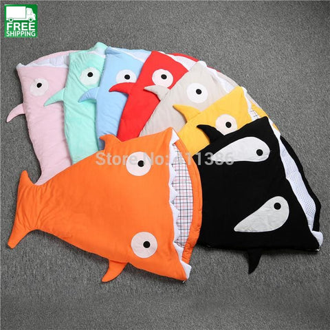 Shark Newborn Sleeping Bag Winter Stroller Bed Swaddle Blanket Cute Baby